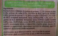 Brioche aux graines de chia, farines complètes - Ingrediënten