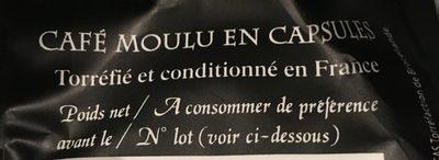 Cafe moulu en capsule - Ingrediënten - fr