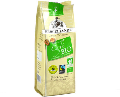 Cafe moulu arabica bio issu du commerce equitable BROCELIANDE - Product - fr