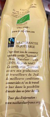 Cafe moulu arabica bio issu du commerce equitable BROCELIANDE - Ingrediënten - fr