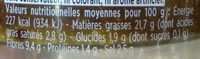 Tapenade d'Olives Noires à l'huile d'olive vierge extra - Informations nutritionnelles - fr