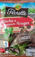 Salade mâche et bouquets rouge - Produit