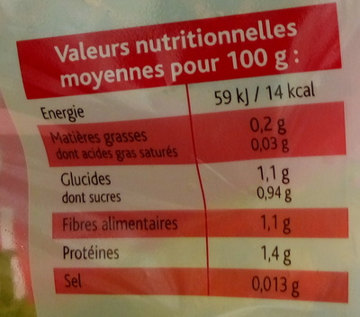 Cœur de Laitue - Nutrition facts - fr