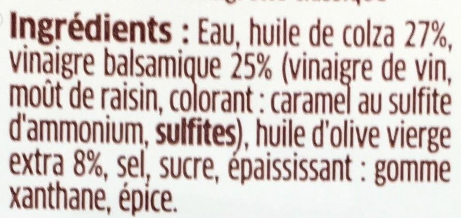 Vinaigrette Vinaigre Balsamique - Ingrediënten