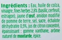 Sauce Fines Herbes - Ingredients - fr