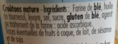 Mes crousti'dés Nature - Ingrédients - fr