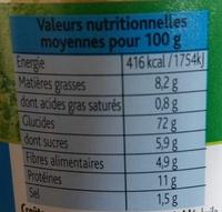 Mes crousti'dés Nature - Informations nutritionnelles - fr