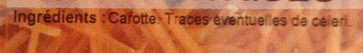Carottes nantaises, rappées - Ingrediënten - fr