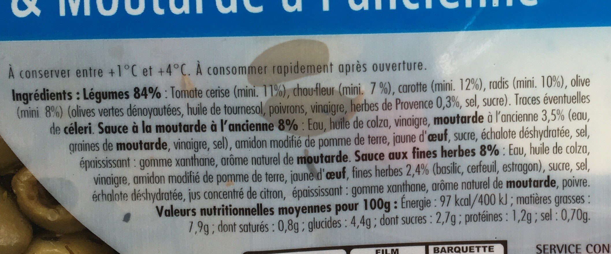 Plateau Apéro 600g - Nutrition facts - fr
