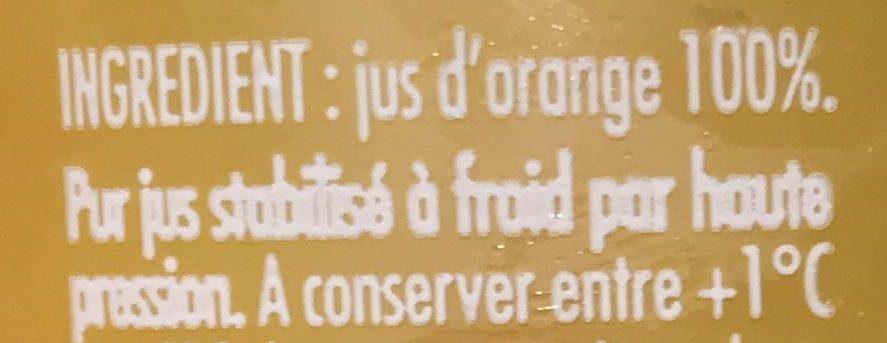 Orange pressée - Ingredients