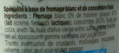Tzatziki aux concombres frais - Ingrédients - fr