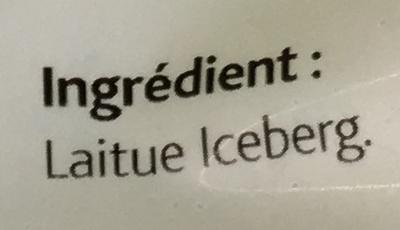 Laitue Iceberg - Ingrediënten - fr
