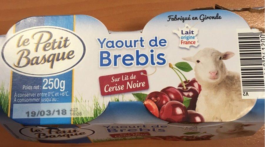 Yaourt de Brebis (Cerise Noire) - Produit