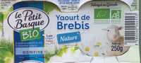 Yaourt de brebis nature Bio - Produit