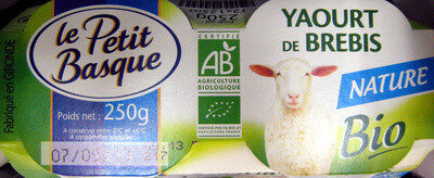 Yaourt de brebis nature Bio Le Petit Basque - Product - fr