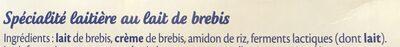 Le Petit Basque Spécialité laitière Douceur de Brebis nature les 4 pots de 100 g - Ingrediënten