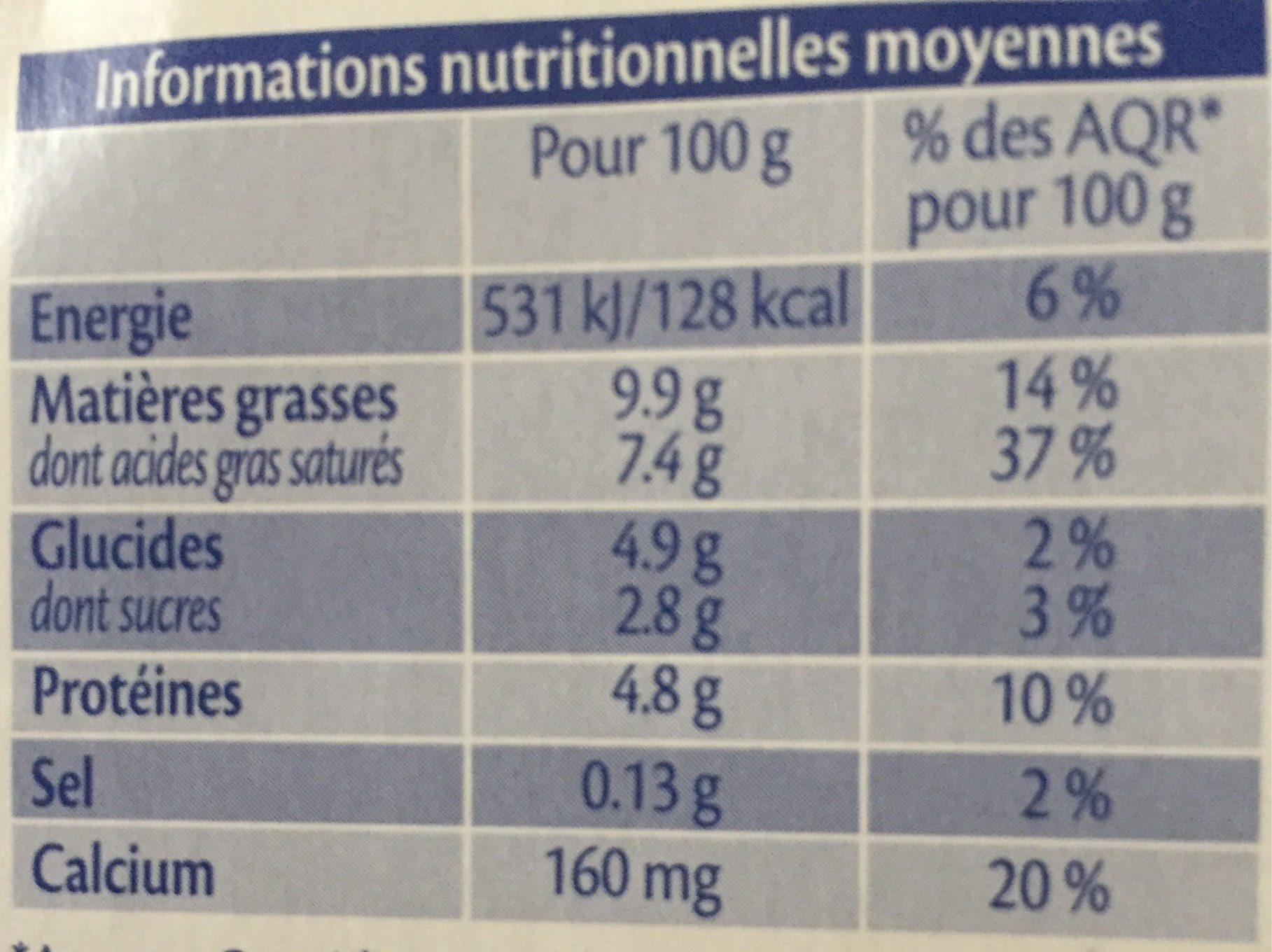 Le Petit Basque Spécialité laitière Douceur de Brebis nature les 4 pots de 100 g - Voedingswaarden
