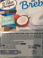 Douceur de brebis noix de coco - Product