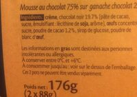 Mousse au Chocolat sur Ganache Chocolat - Ingrediënten - fr