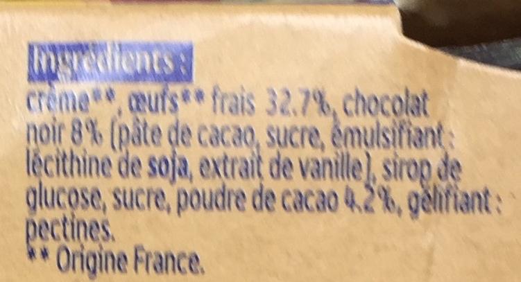 Mousse au Chocolat noir aux oeufs frais - Ingrediënten - fr