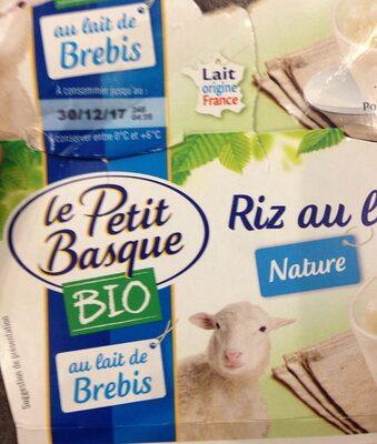 Riz au lait nature - Produit - fr