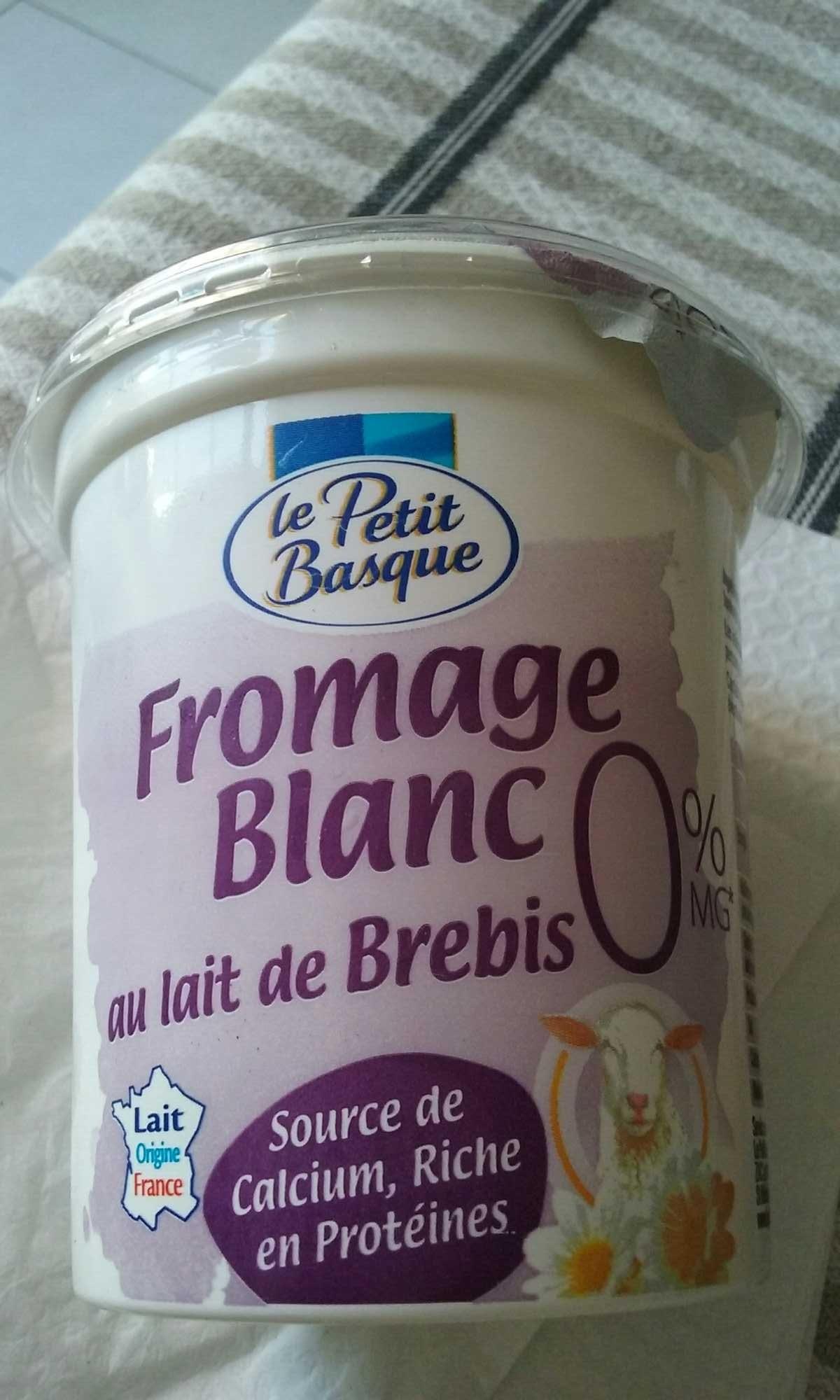 fromage blanc 0 au lait de brebis le petit basque 400g. Black Bedroom Furniture Sets. Home Design Ideas