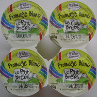 Fromage Blanc Le P'tit Brebis (3,1% MG) - (4 pots) 240 g - Product - fr