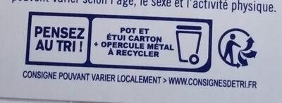 SKYR AU LAIT DE BREBIS - Istruzioni per il riciclaggio e/o informazioni sull'imballaggio - fr