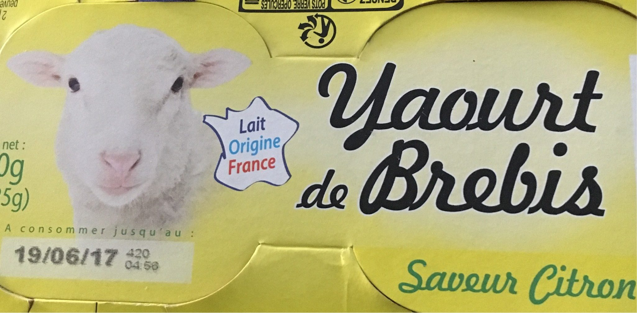 Yaourt de Brebis saveur citron - Product