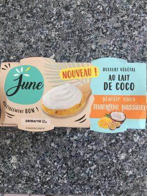 Dessert vegetal au lait de coco - Produit