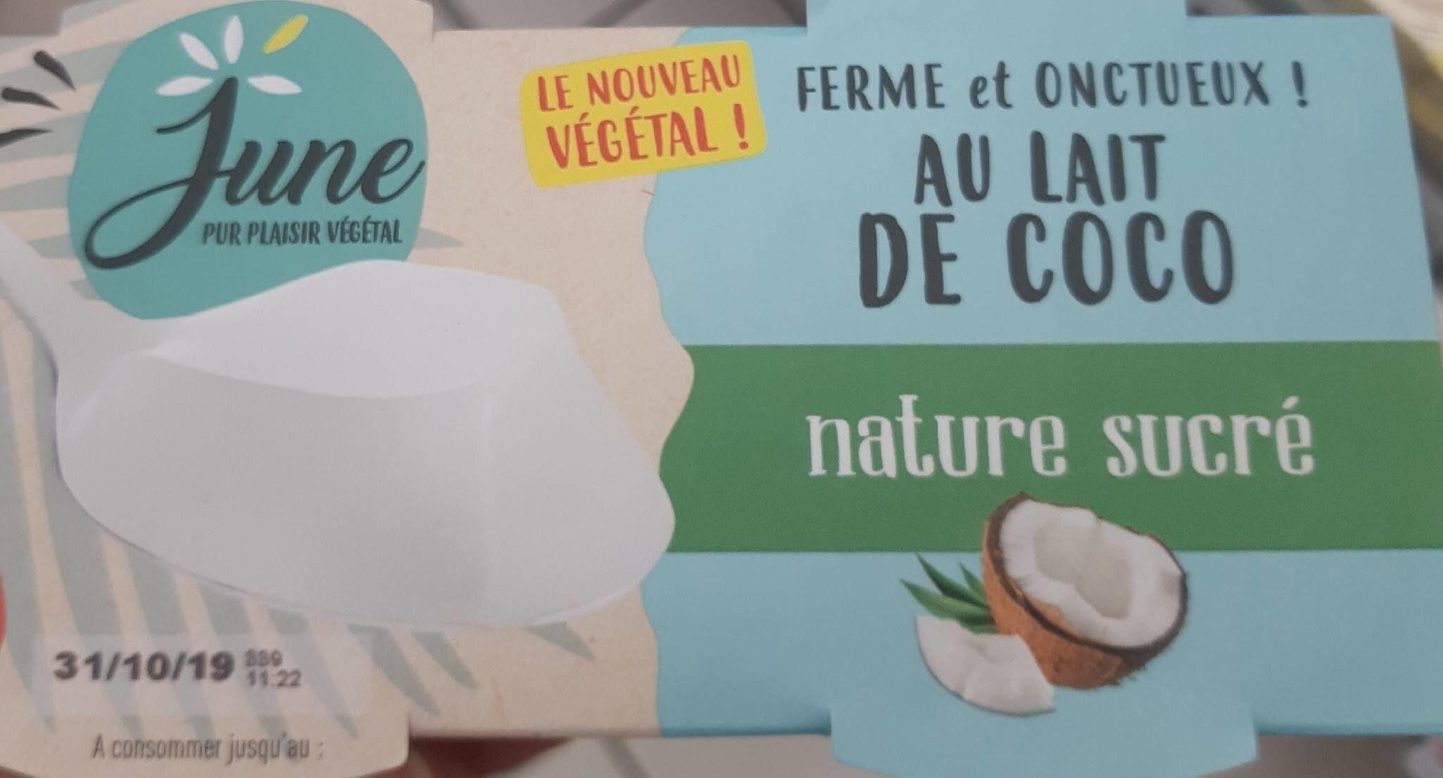 Ferme et onctueux au lait de coco - Product