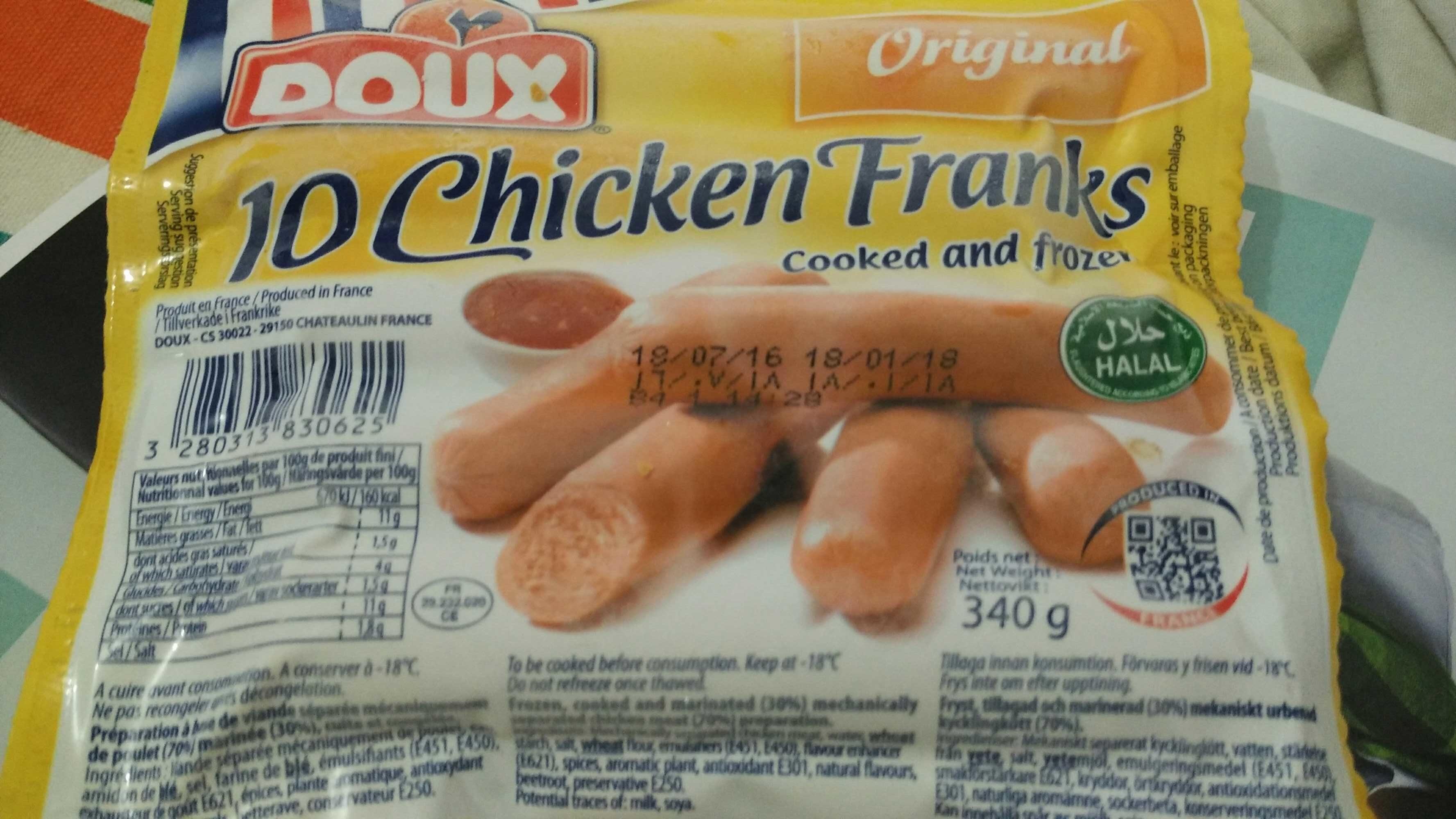 10 chicken franks - Produit - fr