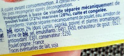 10 Chicken Franks - Ingrédients - fr