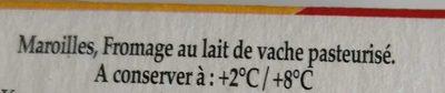 Fauquet maroilles aop quart 210g - Ingredients - fr