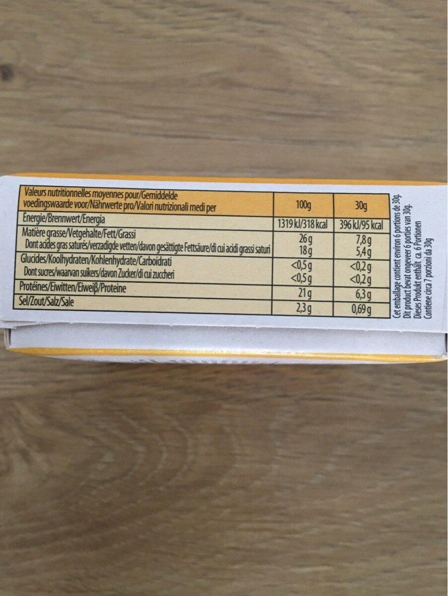 Fauquet maroilles aop quart 210g - Nutrition facts - fr