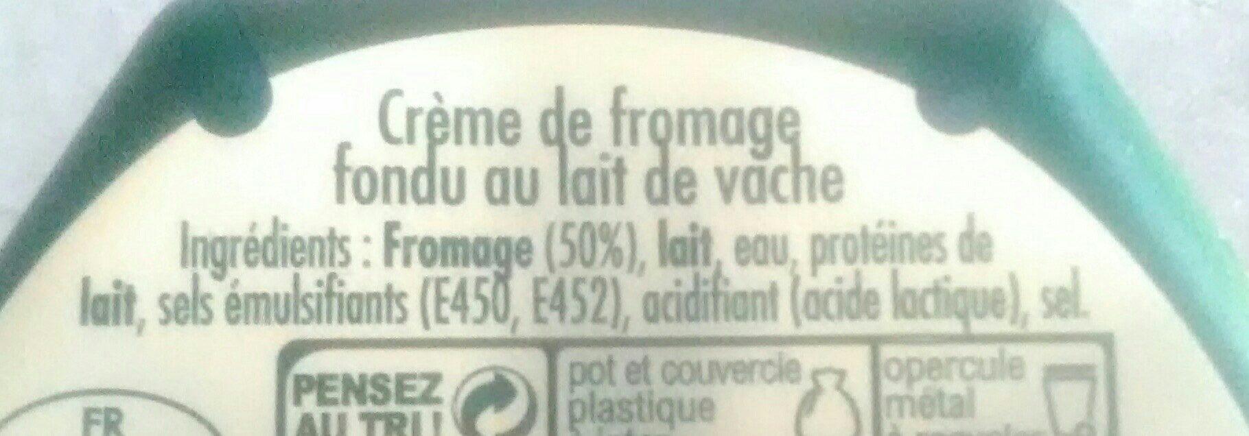 Crème de saint agur - Ingrédients - fr