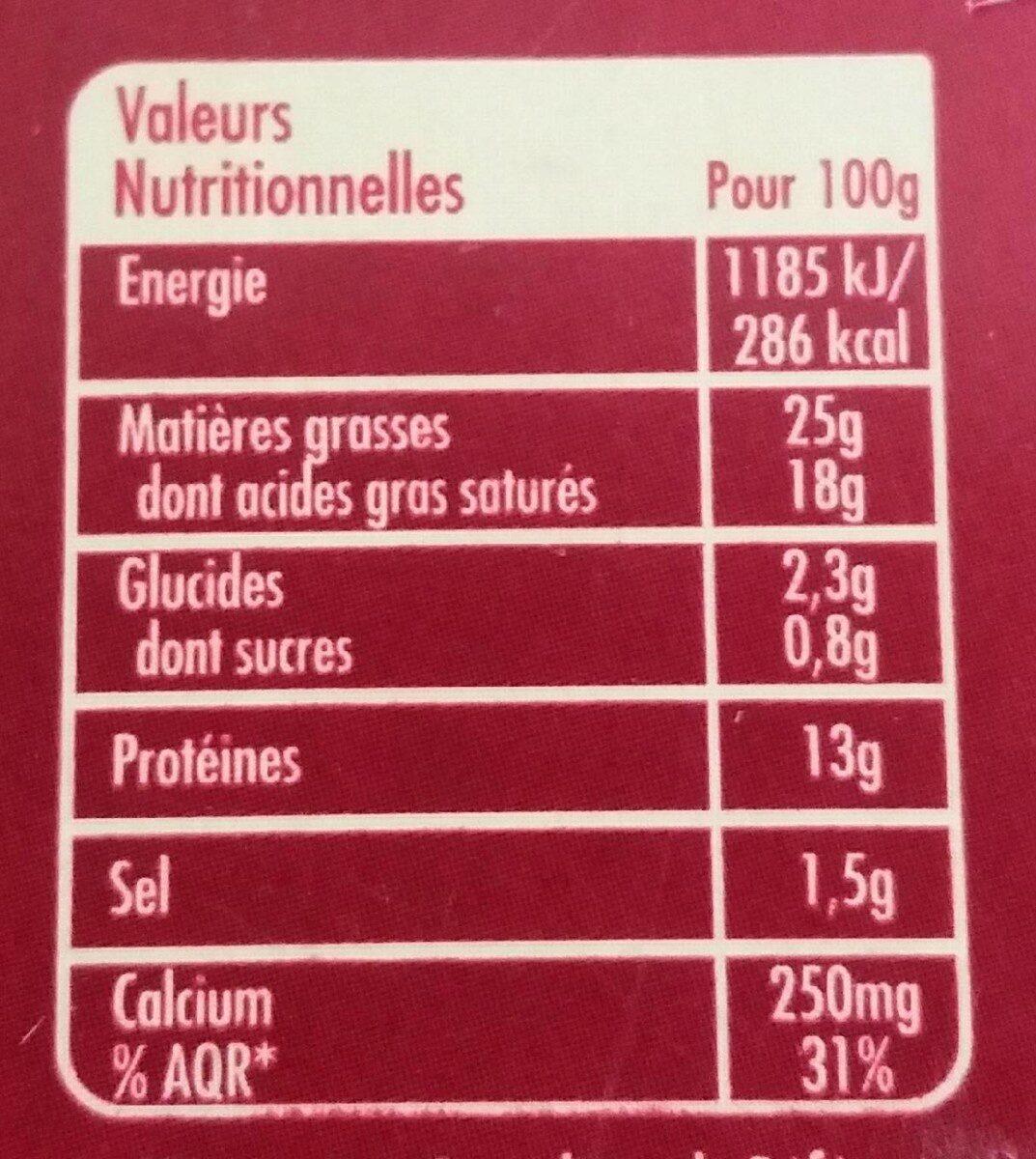 Crème de saint agur - Informations nutritionnelles - fr