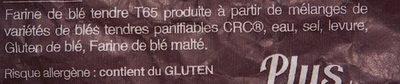 Tradition - Ingredienti - fr