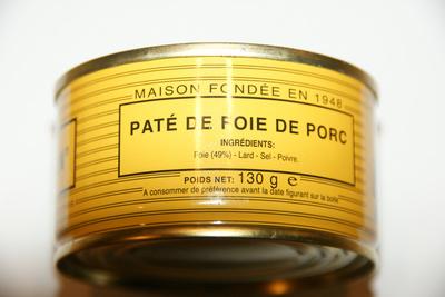 PATÉ DE FOIE DE PORC - Product - fr