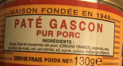 Pâté gascon pour porc - Ingrédients - fr