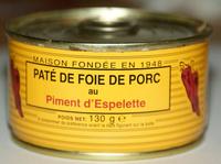Pâté de Foie de Porc au Piment d'Espelette - Product - fr