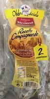 Saucisson sec Recette Campagnarde - Produit
