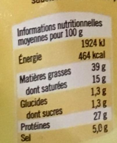 Saucisson sec Recette Campagnarde - Informations nutritionnelles