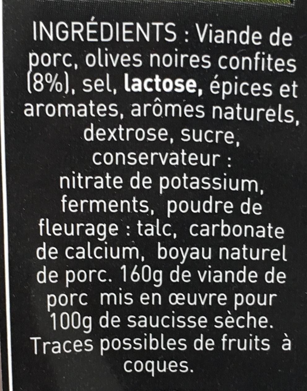 Recette aux Olives - Ingrediënten - fr