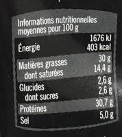 Recette aux Olives - Voedingswaarden - fr