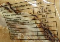 12 crêpes pur beurre - Informations nutritionnelles - fr