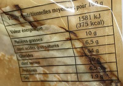 12 crêpes pur beurre - Informations nutritionnelles