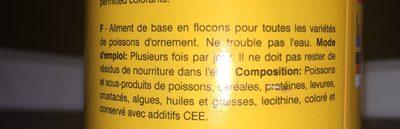 Nouriturre poussion exoticque - Ingredients