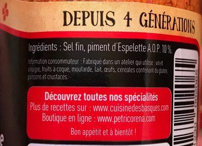 Sel Fin au Piment d'Espelette - Ingrediënten