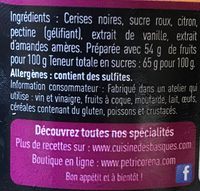 Confiture cerise - Ingredients - fr